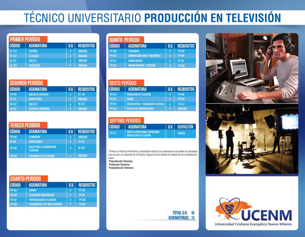 Técnico en Producción en Televisión